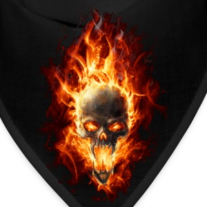 Skull with fire Caps - Bandana