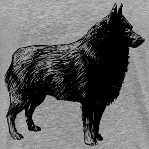 schipperke - Men's Premium T-Shirt