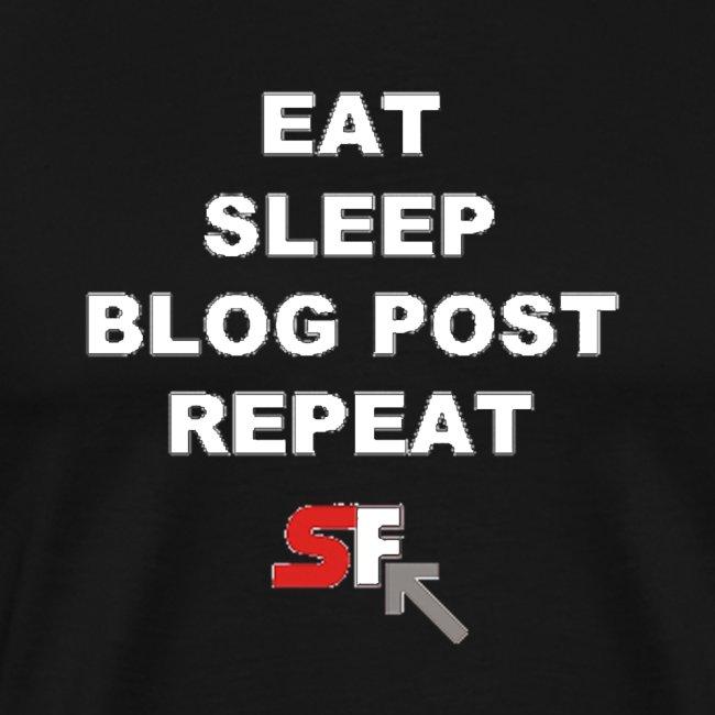 Eat. Sleep. Blog Post. Repeat. (White Text)