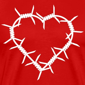 Barbed Wire Heart Shirt - Men's Premium T-Shirt