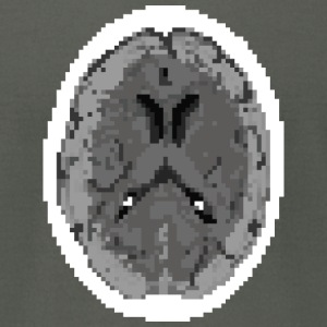 CT Brain Scan - Men's T-Shirt by American Apparel