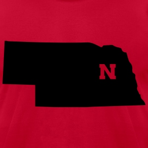 NEBRASKA - Men's T-Shirt by American Apparel