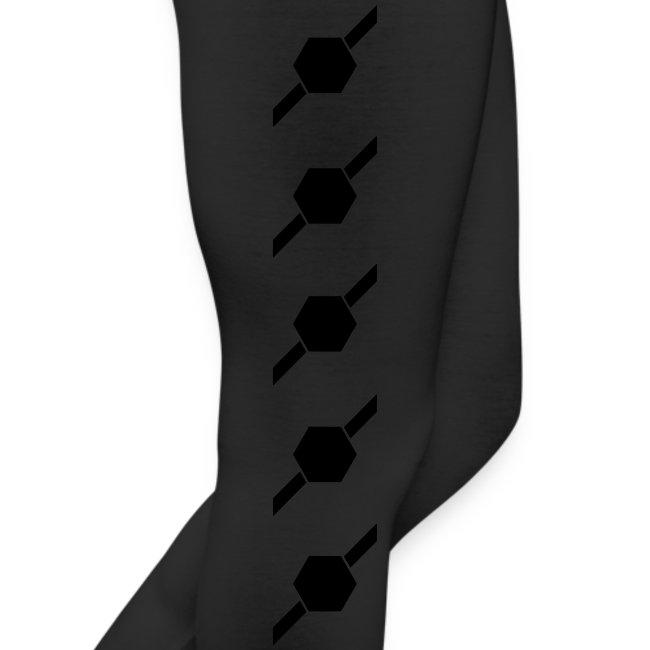 Black hex n slash leggings