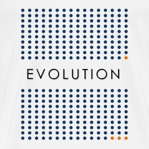 Minimalist design: evolution (light background) T-Shirts - Men's Premium T-Shirt