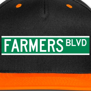 FARMERS BLVD SIGN Caps - Snap-back Baseball Cap