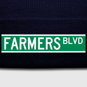 FARMERS BLVD SIGN Caps - Knit Cap with Cuff Print