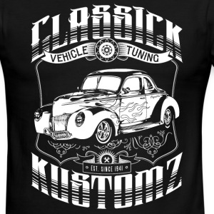 Classick Kustomz (white) T-Shirts - Men's Ringer T-Shirt