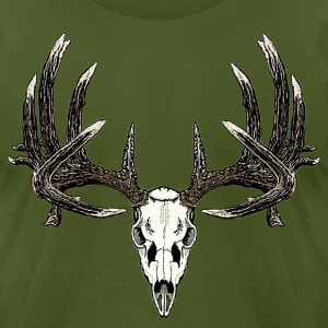 Big whitetail skull - Men's T-Shirt by American Apparel