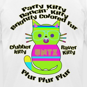 Raver Kitty T-Shirts - Men's T-Shirt by American Apparel