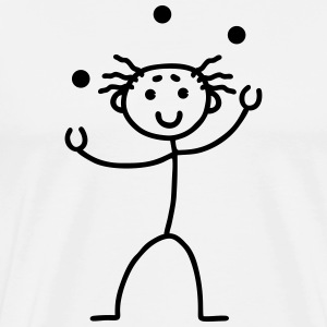 Stick Figure - juggling T-Shirts - Men's Premium T-Shirt