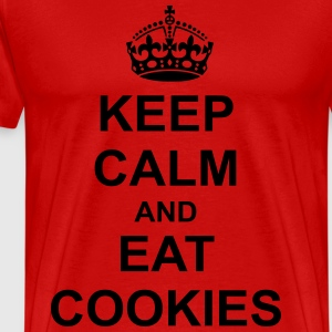 Keep Calm And eat cookies T-Shirts - Men's Premium T-Shirt
