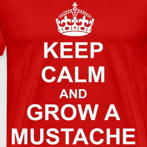Keep Calm And grow a mustache T-Shirts - Men's Premium T-Shirt