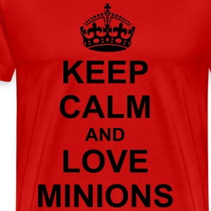 Keep Calm And love minions T-Shirts - Men's Premium T-Shirt