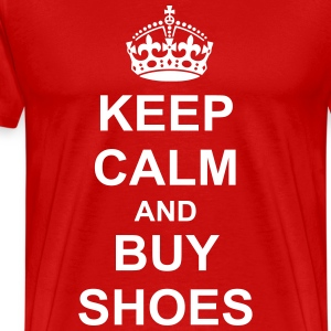 Keep Calm And buy shoes T-Shirts - Men's Premium T-Shirt
