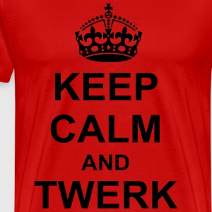 Keep Calm And twerk T-Shirts - Men's Premium T-Shirt