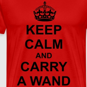 Keep Calm And carry a wand T-Shirts - Men's Premium T-Shirt