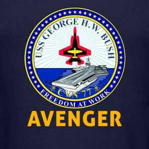 USS George H.W. Bush CVN-77 Avenger Basic Shirt - Men's T-Shirt