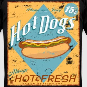 Vintage Hot Dog Diner Sign - Men's T-Shirt by American Apparel