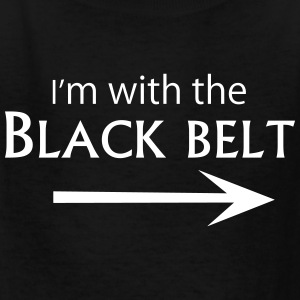 With the Black Belt - Kids' T-Shirt