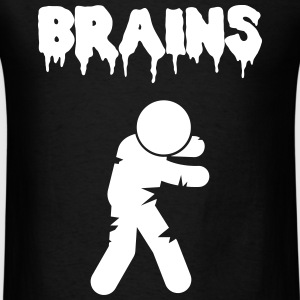 Brains, Zombie wants Brains T-Shirts - Men's T-Shirt