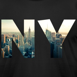 NY for NEW YORK T-Shirts - Men's T-Shirt by American Apparel