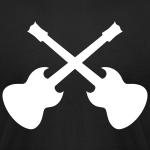 guitar cross T-Shirts - Men's T-Shirt by American Apparel
