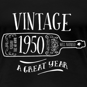 Vintage Age, 1950, Birth Year, Wine Bottle - Women's Premium T-Shirt