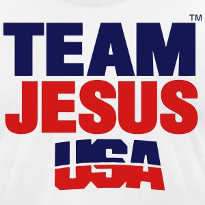 TEAM JESUS USA - Men's T-Shirt by American Apparel