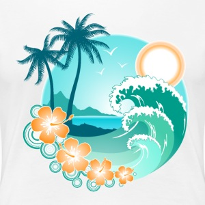 Hawaiian Island 1 - Women's Premium T-Shirt