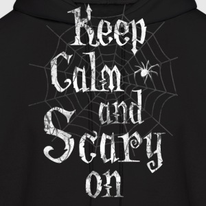 Keep Calm Scary Halloween Hoodies - Men's Hoodie