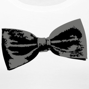 Bow Tie T-Shirt (Women Premium White) Left - Women's Premium T-Shirt