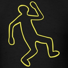 Crime Scene Body Outline T-Shirts