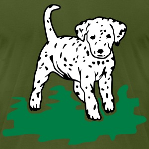 Dalmatian Puppy T-Shirts - Men's T-Shirt by American Apparel
