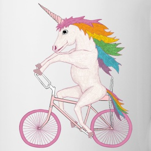 unicorn on bike Bottles & Mugs - Coffee/Tea Mug