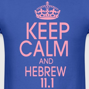 KEEP CALM AND HEBREW - Men's T-Shirt