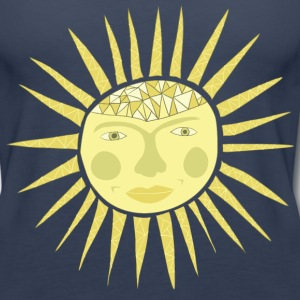 sun face Tanks - Women's Premium Tank Top