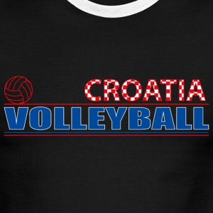 Volleyball Croatia T-Shirts - Men's Ringer T-Shirt