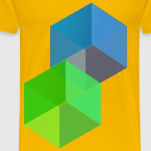 3D Cubes - Men's Premium T-Shirt
