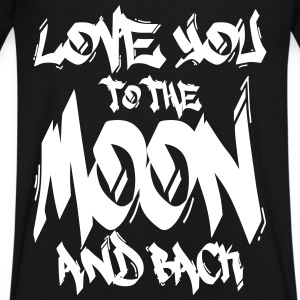 I Love You to the Moon and back T-Shirts - Men's V-Neck T-Shirt by Canvas