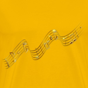 Flying music notes - Men's Premium T-Shirt