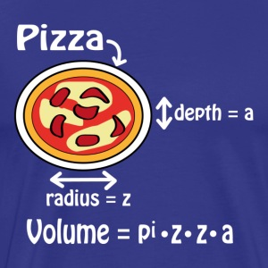 Pizza for geeks and nerds T-Shirts - Men's Premium T-Shirt