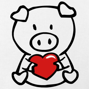 Cute Pig cuddles heart T-Shirts - Men's T-Shirt by American Apparel
