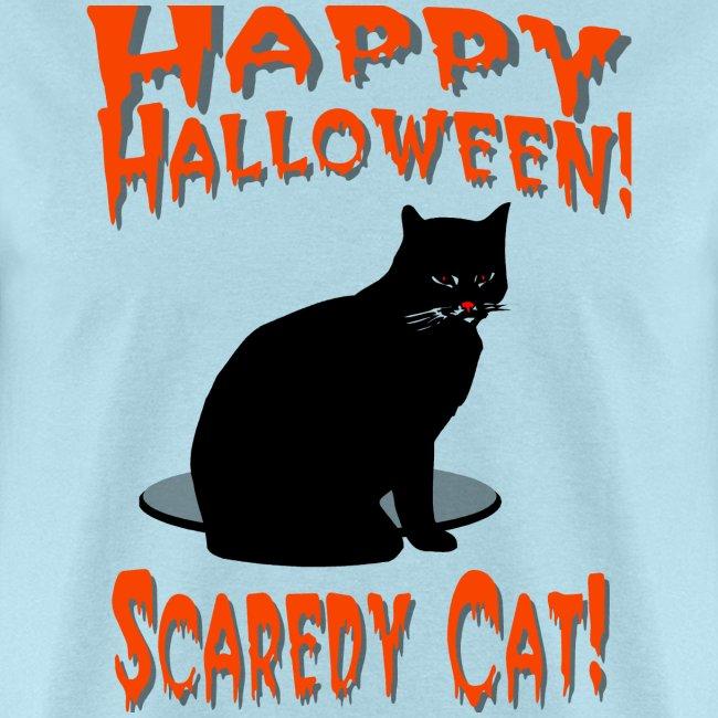 Happy Halloween Scaredy Cat T-Shirt For Men