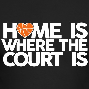 Home is where the court is Long Sleeve Shirts - Men's Long Sleeve T-Shirt by Next Level