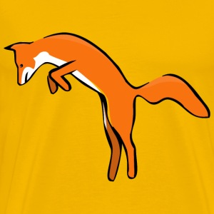 Fox Leaping - Men's Premium T-Shirt