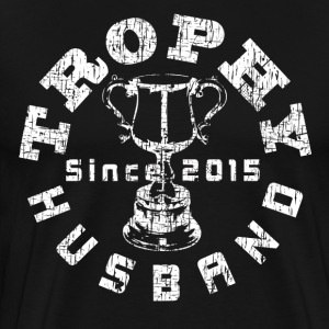 Trophy Husband Since 2015 Black T-shirt - Men's Premium T-Shirt