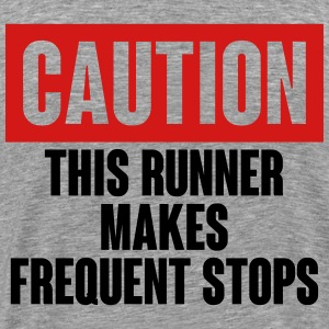 Caution Runner T-Shirts - Men's Premium T-Shirt
