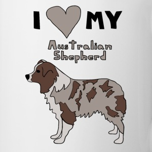 i heart my australian shepherd Drinkware - Coffee/Tea Mug
