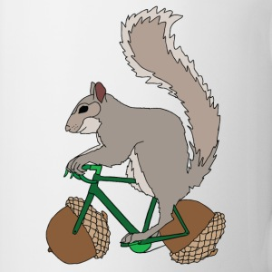 Squirrel on Bike with Accord Wheels Bottles & Mugs - Coffee/Tea Mug