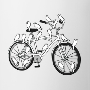 bird bike with white doves Drinkware - Coffee/Tea Mug
